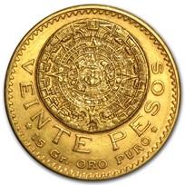 1918 Mexico Gold 20 Pesos XF