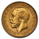 1918-P Australia Gold Half-Sovereign George V MS-62 PCGS
