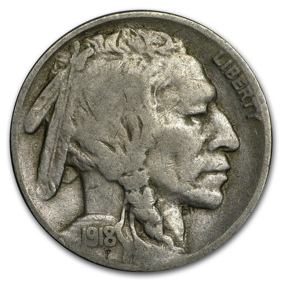 1918-S Buffalo Nickel Fine