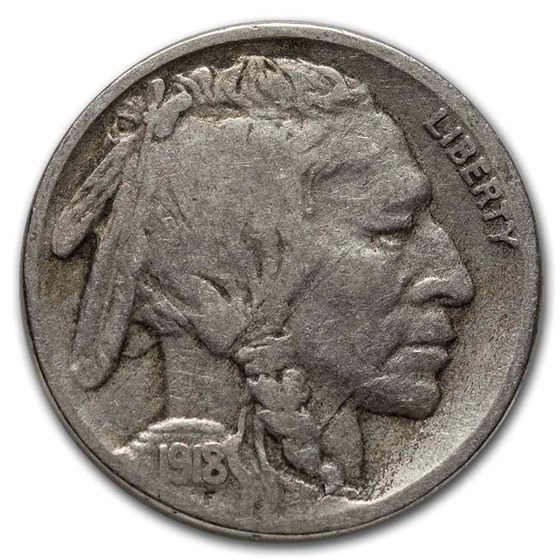 1918-S Buffalo Nickel VG