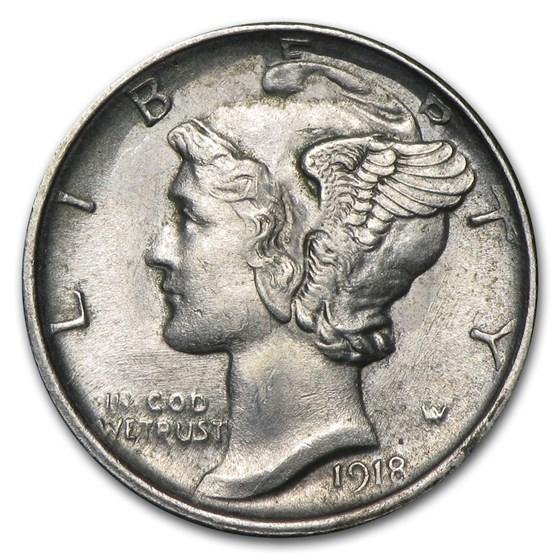 1918-S Mercury Dime AU