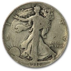 1918-S Walking Liberty Half Dollar Good