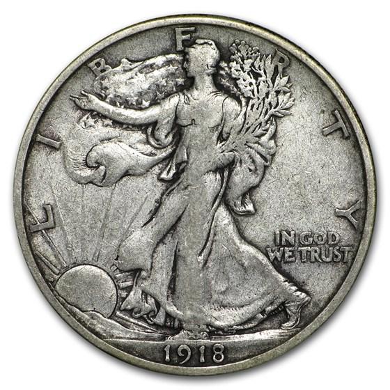 1918-S Walking Liberty Half Dollar VF