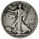 1918-S Walking Liberty Half Dollar VG