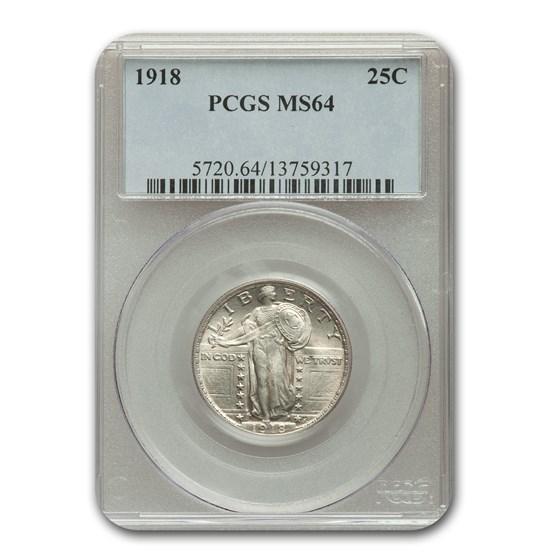 1918 Standing Liberty Quarter MS-64 PCGS