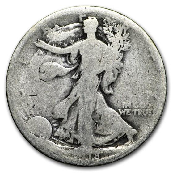 1918 Walking Liberty Half Dollar AG