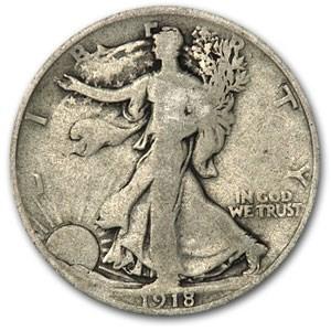1918 Walking Liberty Half Dollar Good
