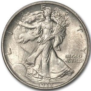 1918 Walking Liberty Half Dollar MS-61