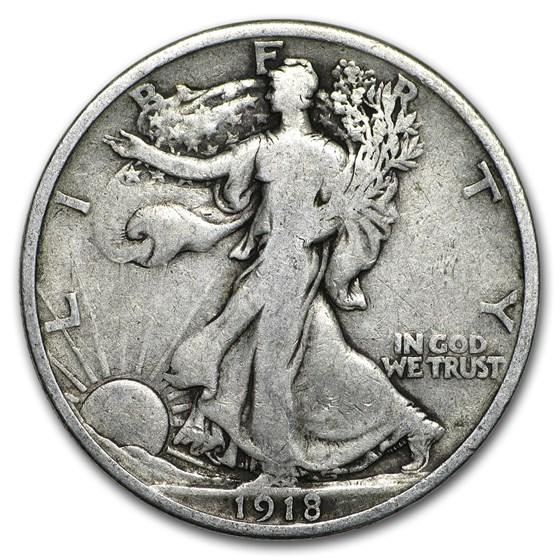 1918 Walking Liberty Half Dollar VG