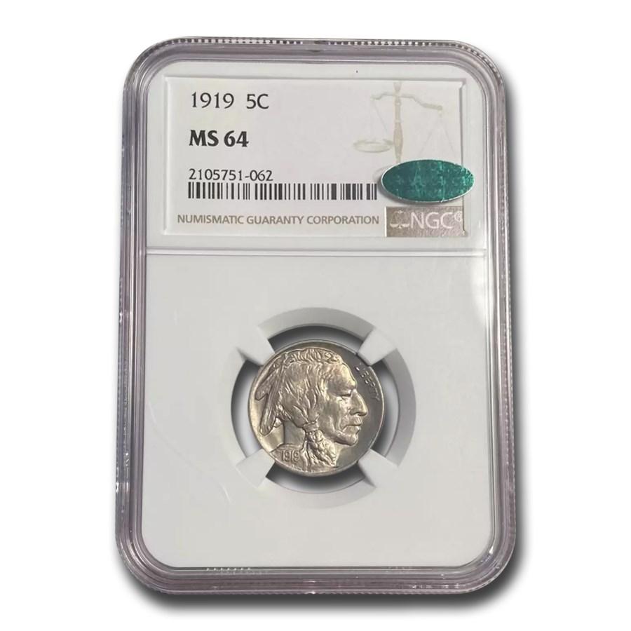 1919 Buffalo Nickel MS-64 NGC