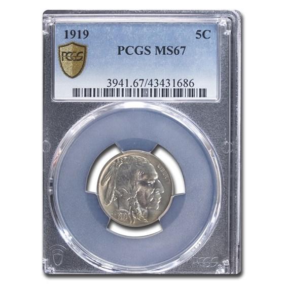 1919 Buffalo Nickel MS-67 PCGS
