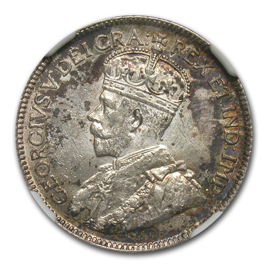 1919 Canada Silver 25 Cents MS-62 NGC