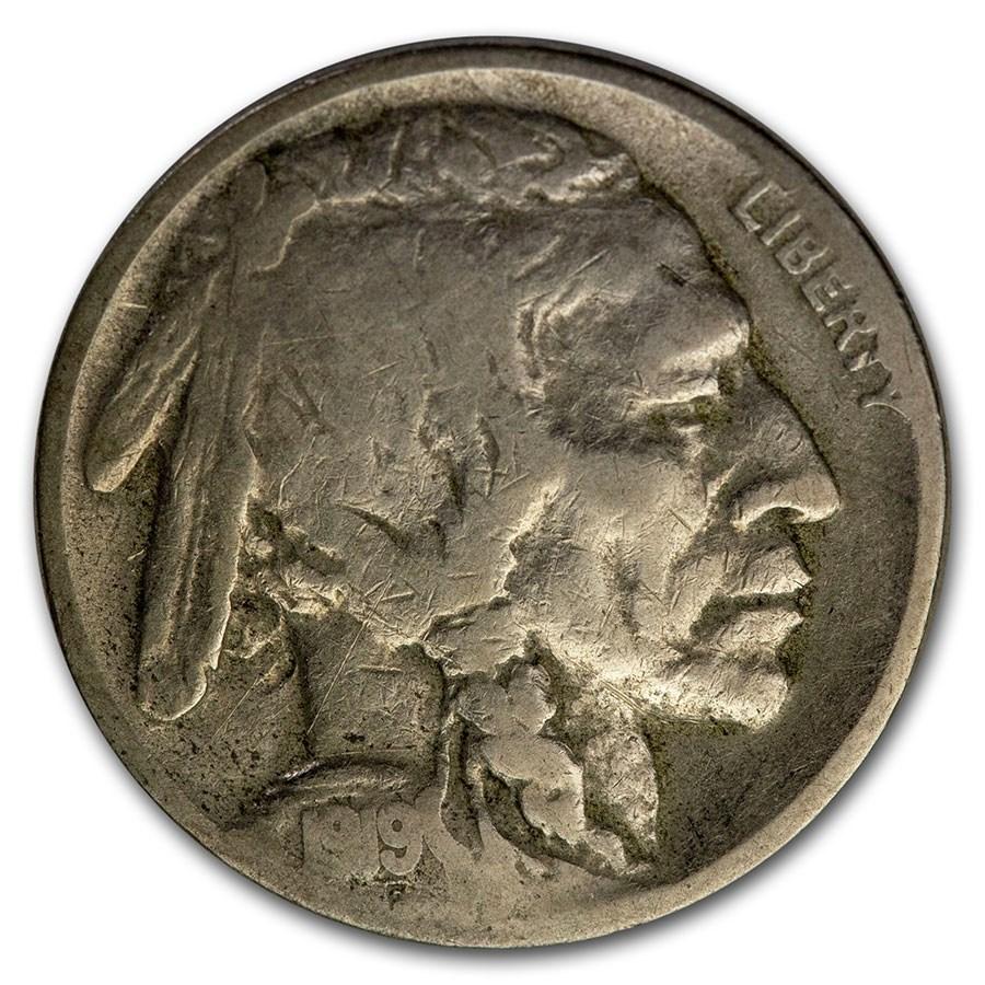 1919-D Buffalo Nickel Fine Details