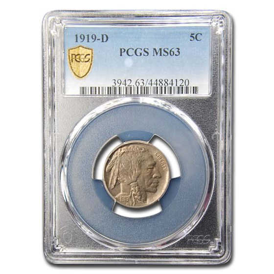 1919-D Buffalo Nickel MS-63 PCGS