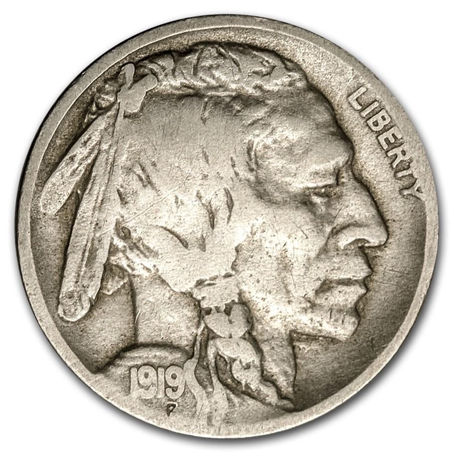 1919-D Buffalo Nickel VG Details