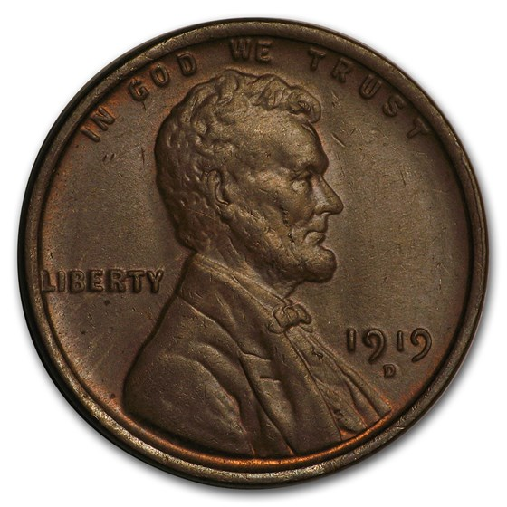1919-D Lincoln Cent BU (Brown)