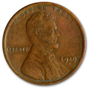 1919-D Lincoln Cent XF