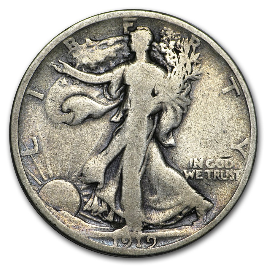 1919-D Walking Liberty Half Dollar VG