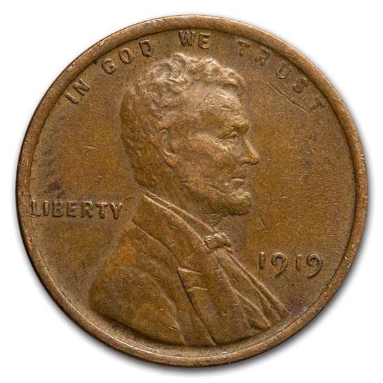 1919 Lincoln Cent AU