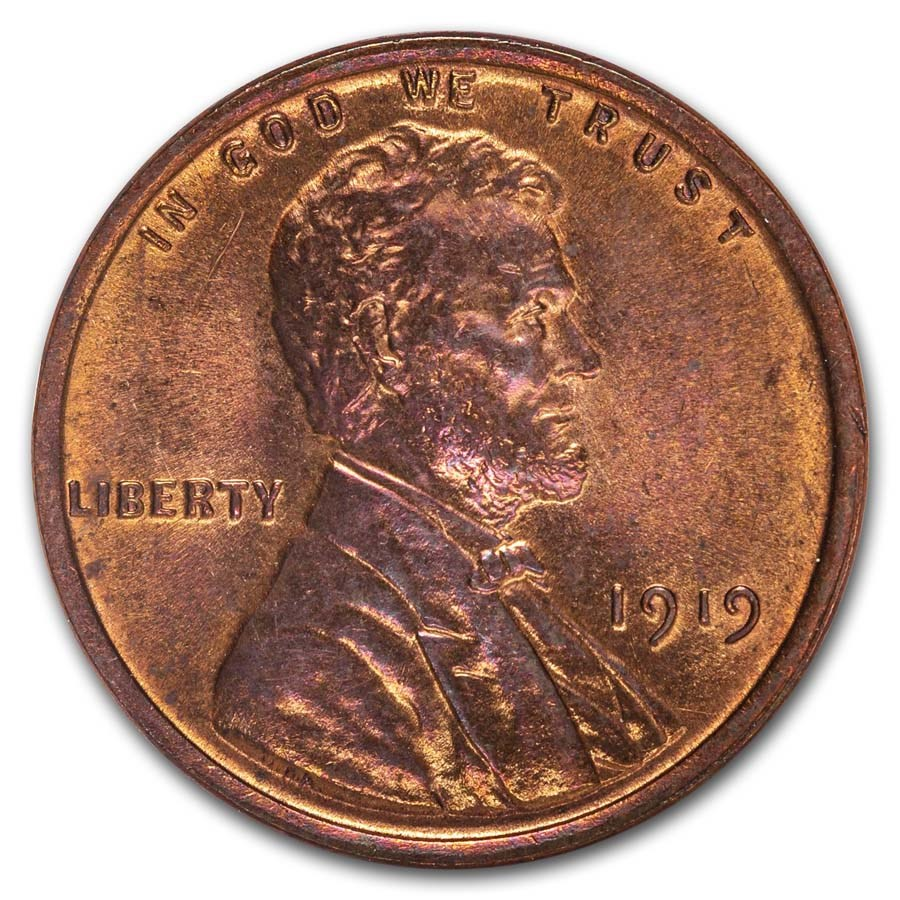 1919 Lincoln Cent BU (Red/Brown)