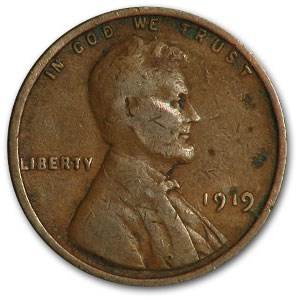 1919 Lincoln Cent Good/VF
