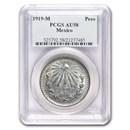 1919-M Mexico Silver Peso AU-58 PCGS