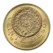 1919 Mexico Gold 20 Pesos BU
