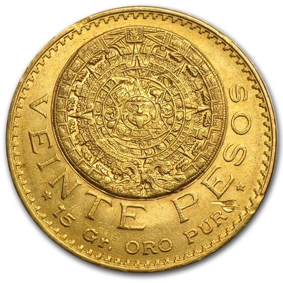 1919 Mexico Gold 20 Pesos XF