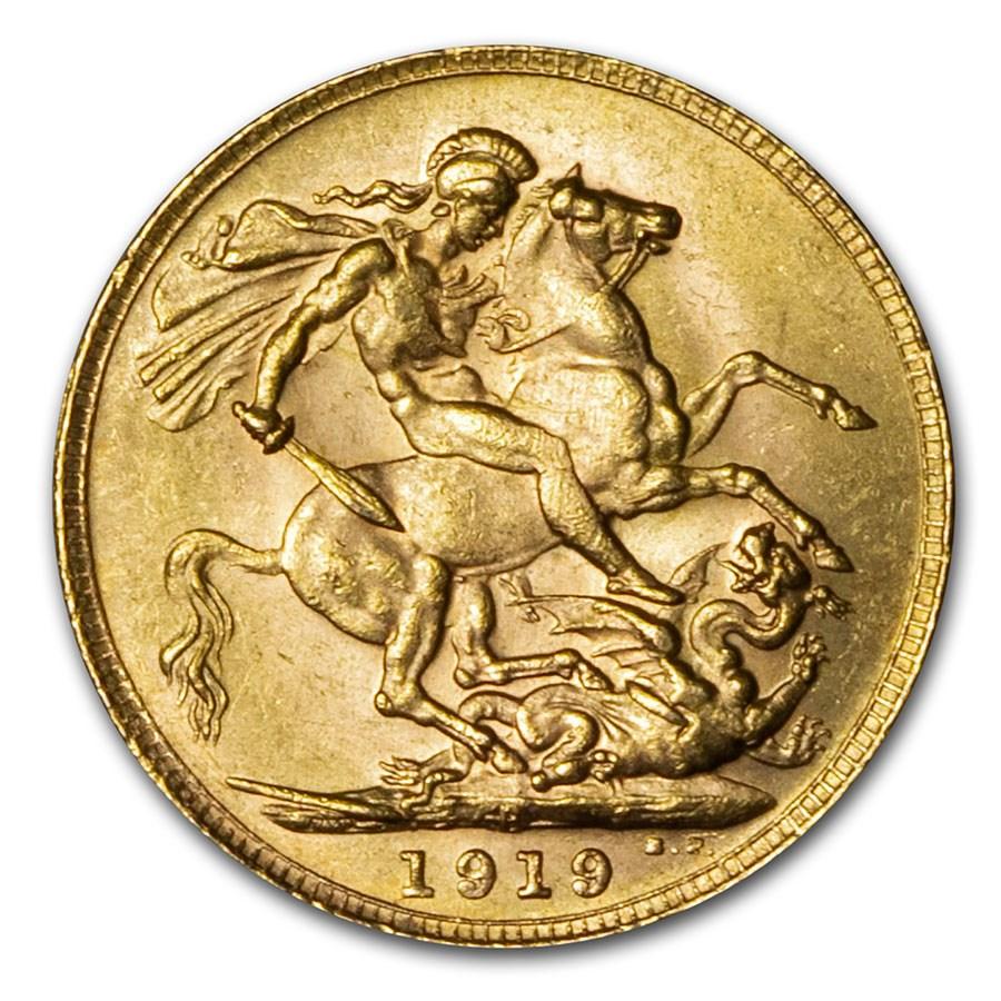 1919-P Australia Gold Sovereign George V BU