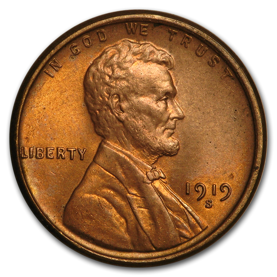1919-S Lincoln Cent BU (Red)