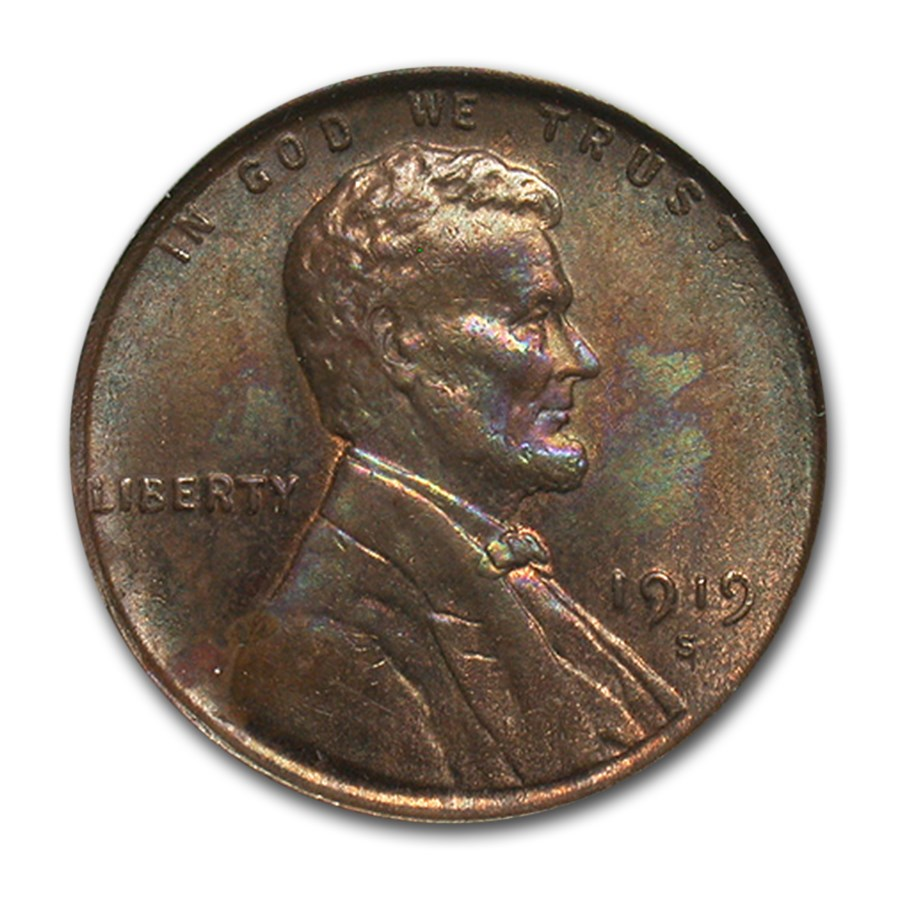 1919-S Lincoln Cent MS-64 PCGS (Brown)