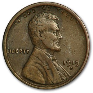 1919-S Lincoln Cent XF