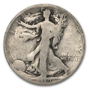1919-S Walking Liberty Half Dollar Good