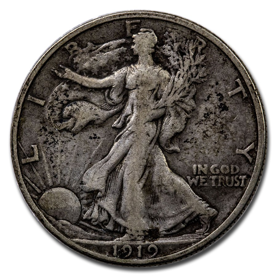 1919-S Walking Liberty Half Dollar VF