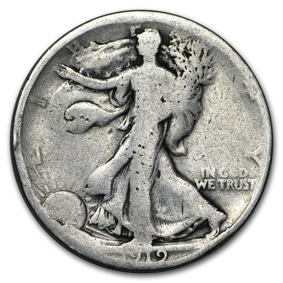 1919 Walking Liberty Half Dollar AG