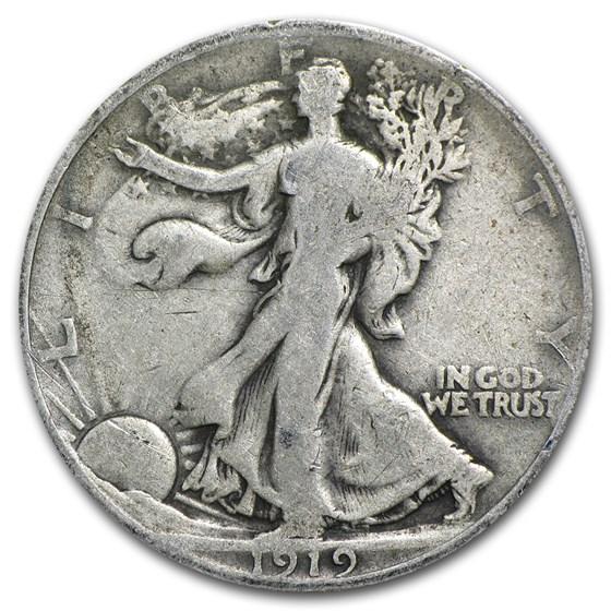 1919 Walking Liberty Half Dollar VG