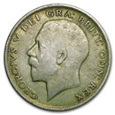 1920-1922 Great Britain Silver Half Crown George V Avg Circ