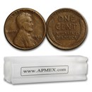 1920-1929 Lincoln Cent 50-Coin Roll Avg Circ