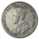 1920-1936 Canada Silver 25 Cents George V Avg Circ