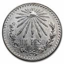 1920-1945 Silver Mexican 1 Peso Cap & Rays AU