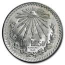 1920-1945 Silver Mexican 1 Peso Cap & Rays BU