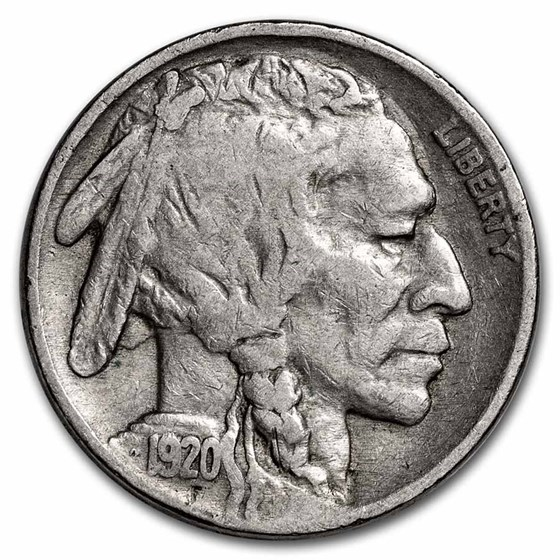 1920 Buffalo Nickel Fine