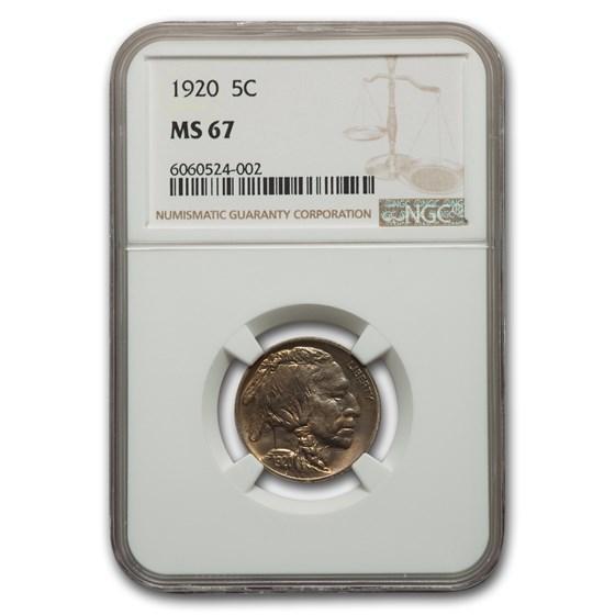 1920 Buffalo Nickel MS-67 NGC