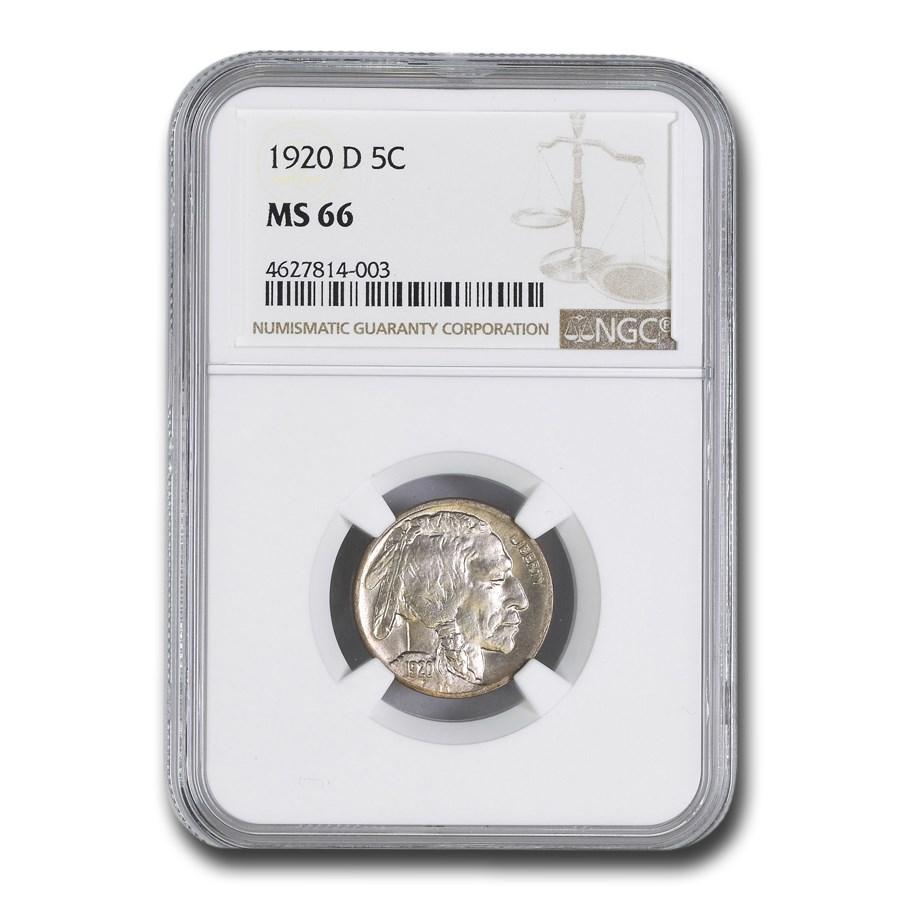 1920-D Buffalo Nickel MS-66 NGC