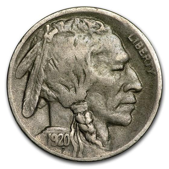 1920-D Buffalo Nickel VF