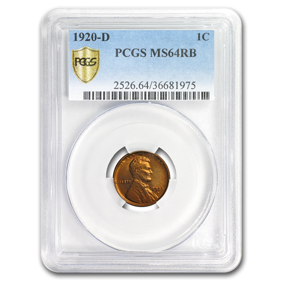 1920-D Lincoln Cent MS-64 PCGS (Red/Brown)