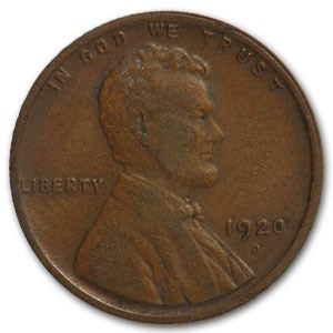 1920-D Lincoln Cent VF