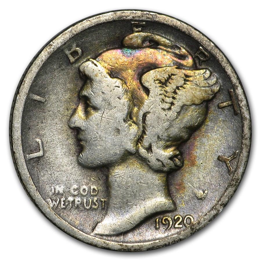 1920-D Mercury Dime Good/Fine