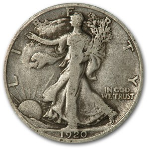 1920-D Walking Liberty Half Dollar VG