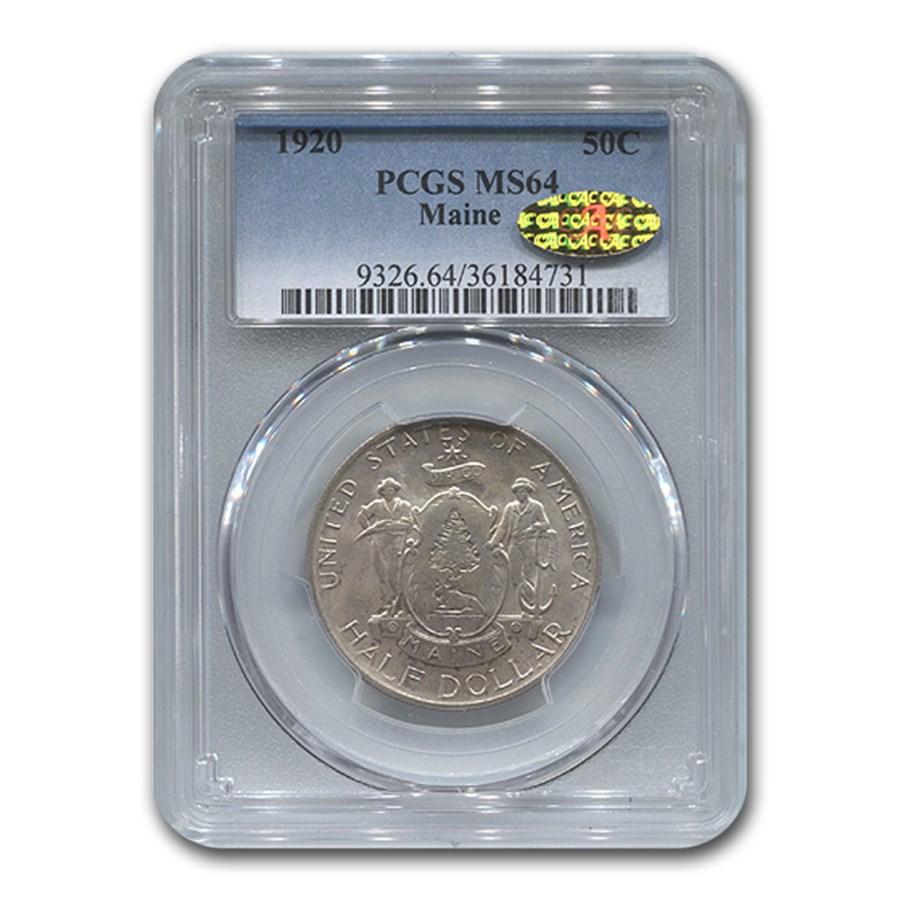 1920 Maine Centennial Half Dollar Commem MS-64 PCGS CAC
